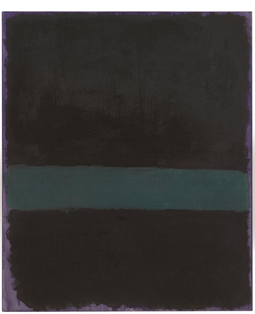 Mark Rothko Untitled Green Line On Purple, Canvas, Mark Rothko, kanvas tablo, canvas print sales