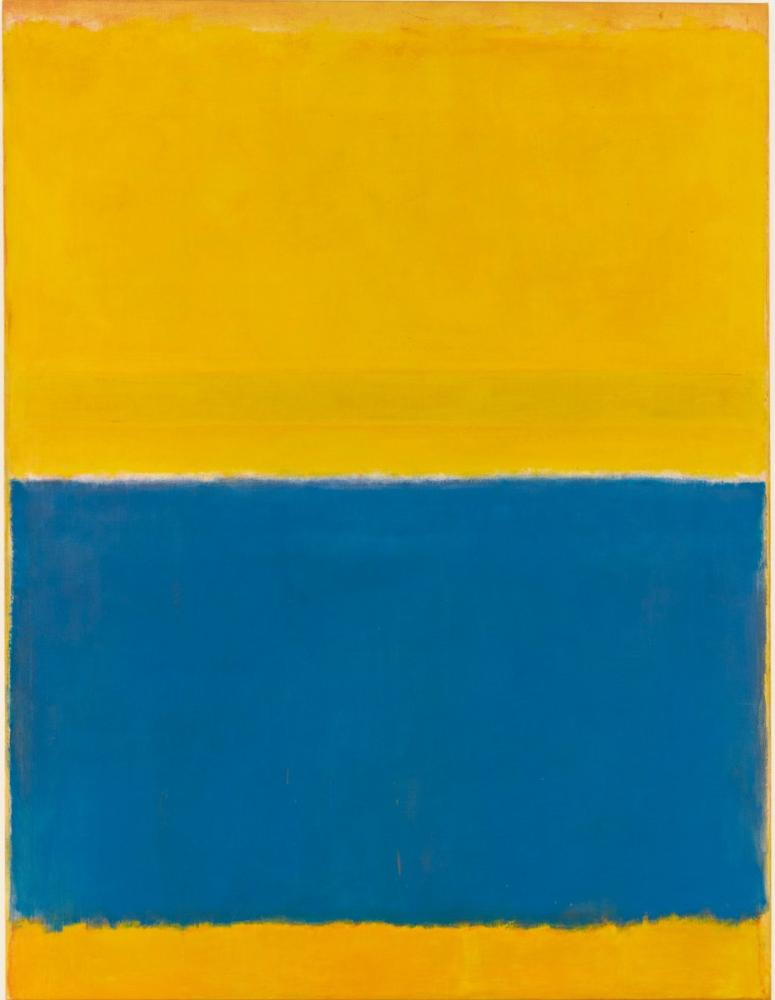 Mark Rothko Yellow And Blue, Canvas, Mark Rothko, kanvas tablo, canvas print sales