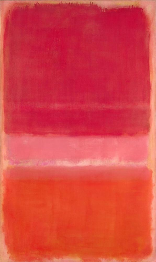 Mark Rothko Red Pink Orange, Canvas, Mark Rothko, kanvas tablo, canvas print sales