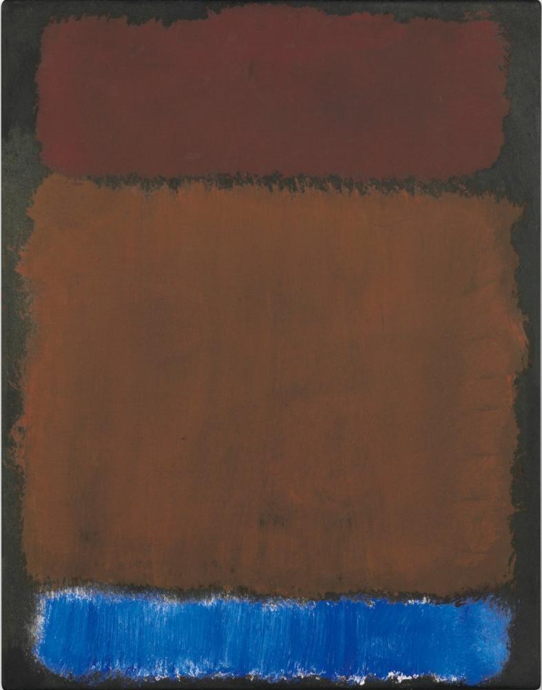 Mark Rothko Wine Rust Blue On Black, Canvas, Mark Rothko, kanvas tablo, canvas print sales