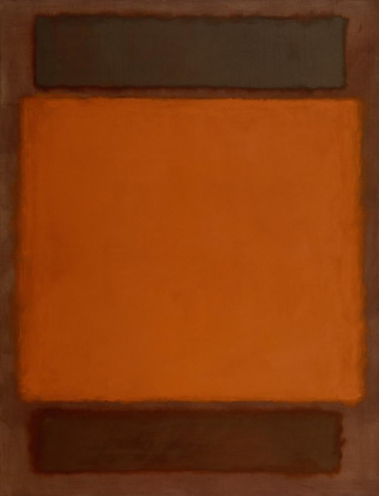 Mark Rothko Orange Brown, Canvas, Mark Rothko, kanvas tablo, canvas print sales