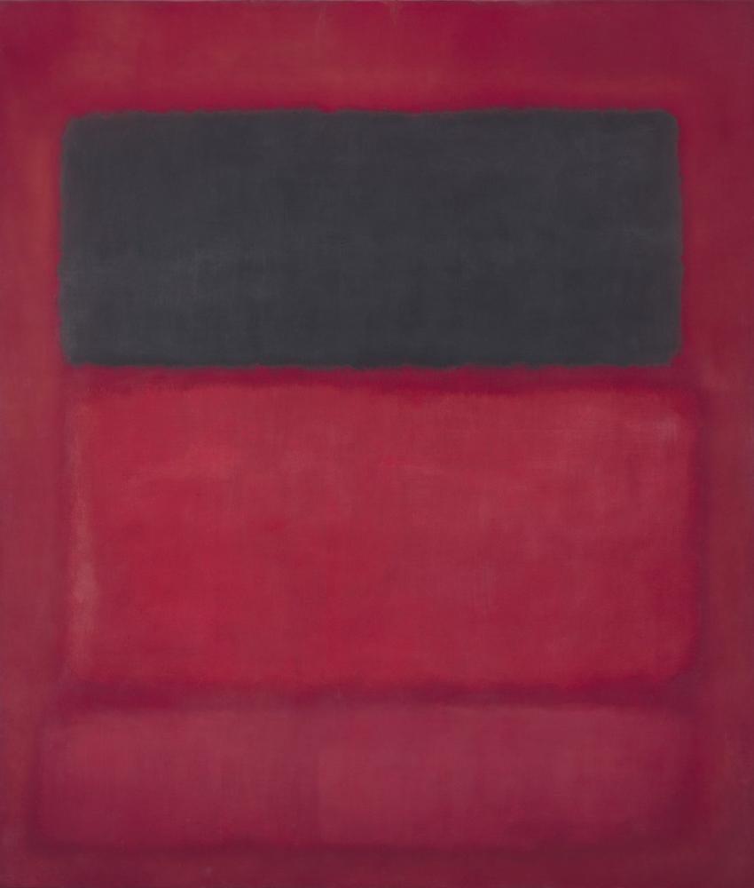 Mark Rothko Kırmızı Üzeri Siyah, Kanvas Tablo, Mark Rothko, kanvas tablo, canvas print sales