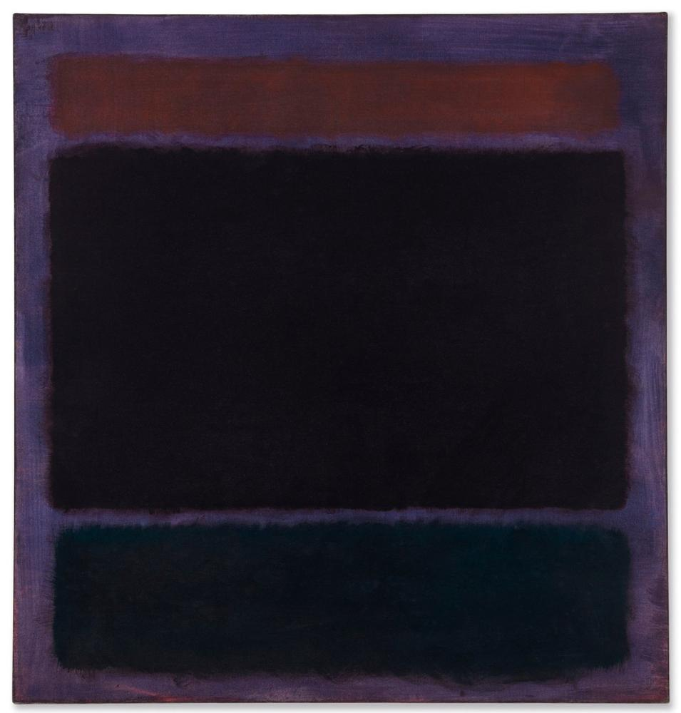 Mark Rothko Black On Plum, Canvas, Mark Rothko, kanvas tablo, canvas print sales