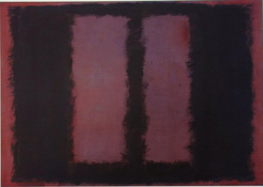 Mark Rothko Kestane Üzeri Siyah, Kanvas Tablo, Mark Rothko, kanvas tablo, canvas print sales