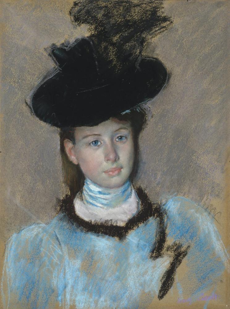 Mary Cassatt, The Black Hat, Canvas, Mary Cassatt, kanvas tablo, canvas print sales