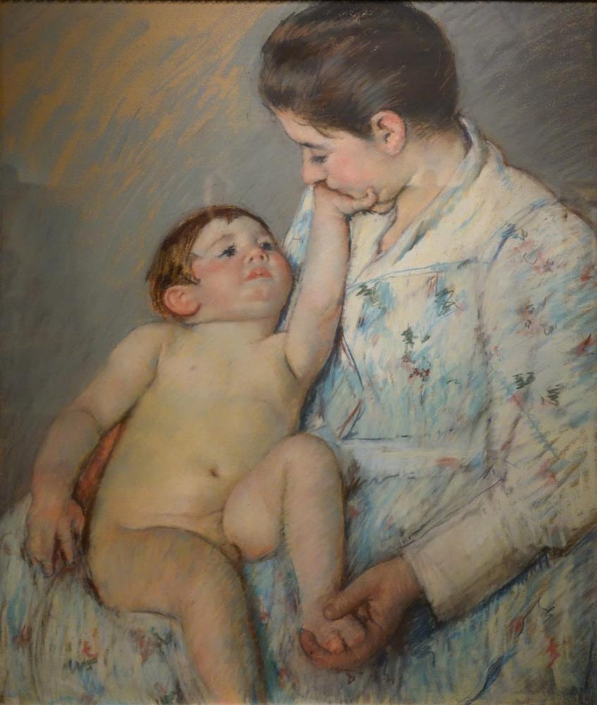 Mary Cassatt, Mary Stevenson Tarafından Bir Okşama, Kanvas Tablo, Mary Cassatt, kanvas tablo, canvas print sales