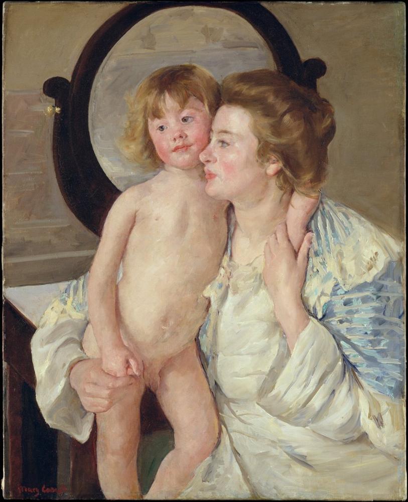 Mary Cassatt, Mother and Child The Oval Mirror, Canvas, Mary Cassatt, kanvas tablo, canvas print sales