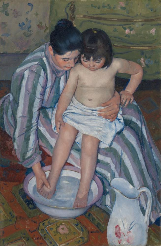 Mary Cassatt, The Child s Bath, Canvas, Mary Cassatt, kanvas tablo, canvas print sales