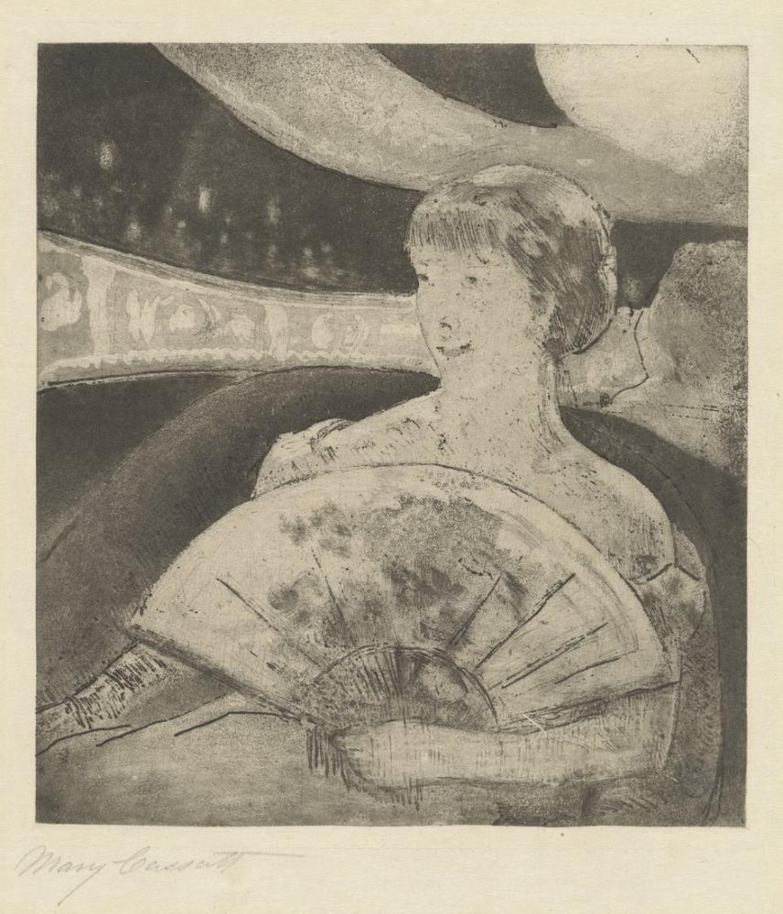 Mary Cassatt, In the Opera Box I, Figure, Mary Cassatt, kanvas tablo, canvas print sales