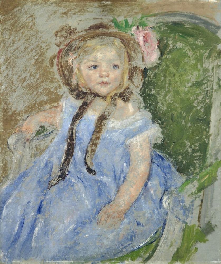 Mary Cassatt, Mary Sara ile Koyu Bir Küçük Tavşan, Kanvas Tablo, Mary Cassatt, kanvas tablo, canvas print sales