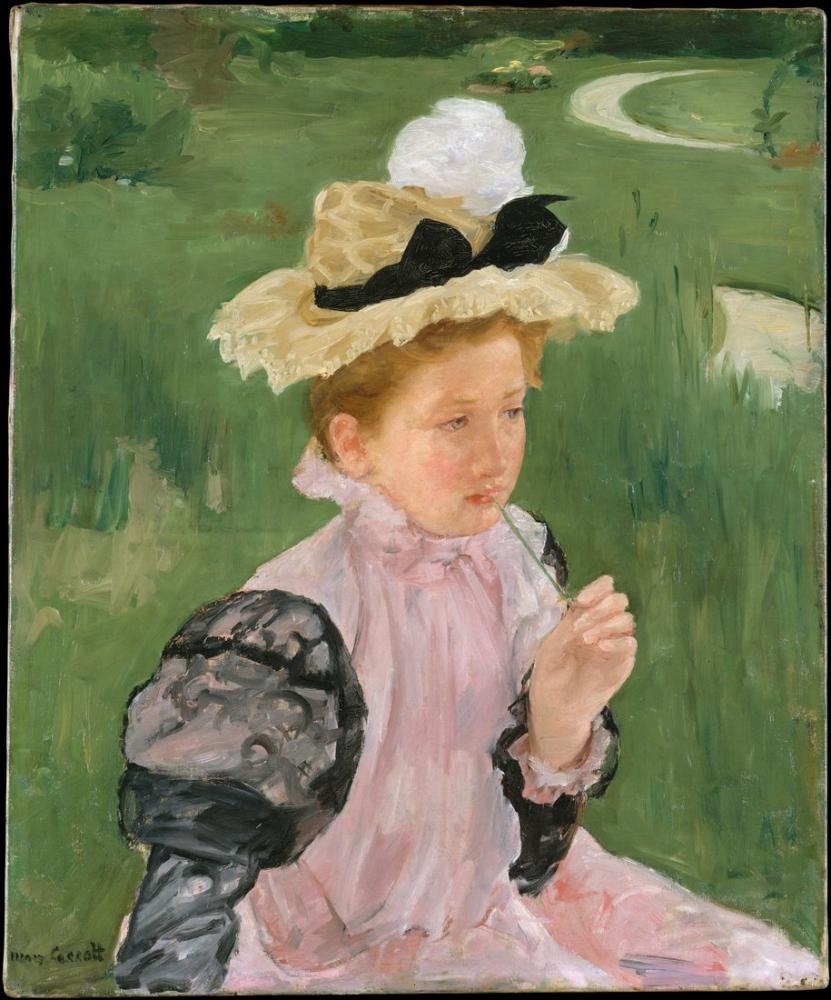 Mary Cassatt, Portrait of a Young Girl, Canvas, Mary Cassatt, kanvas tablo, canvas print sales