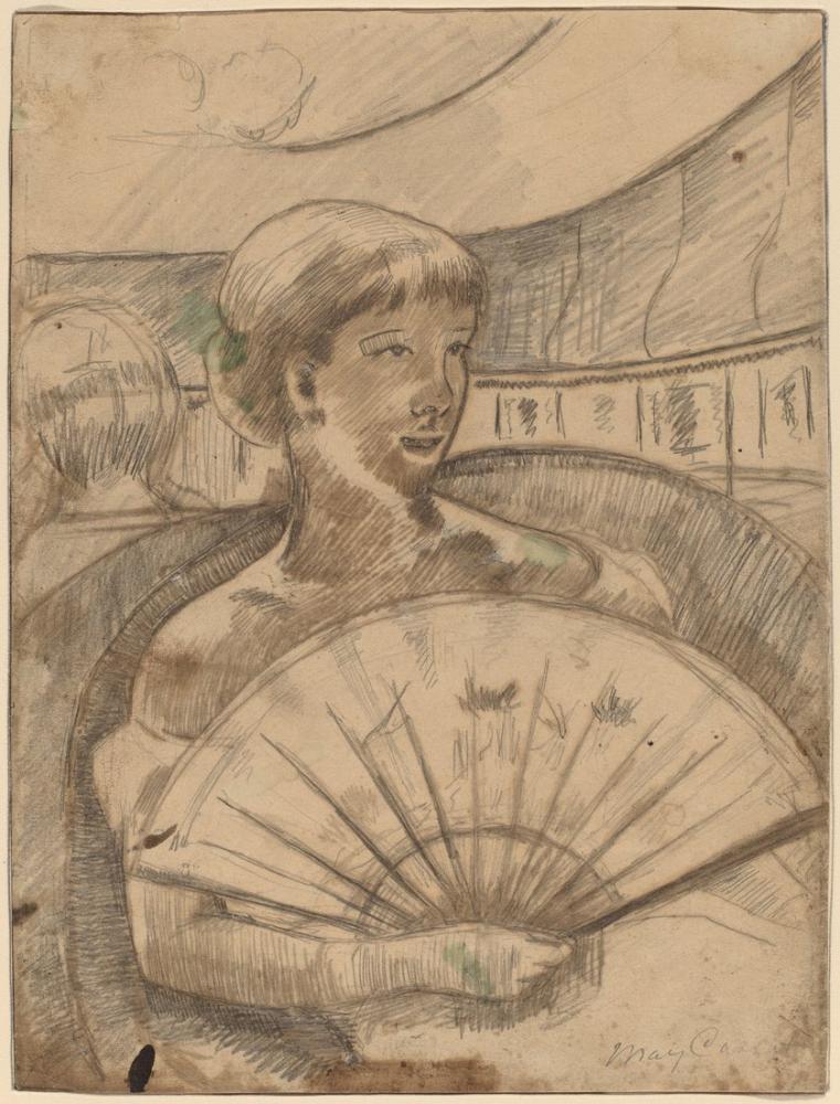 Mary Cassatt, Opera Kutusunda II, Kanvas Tablo, Mary Cassatt, kanvas tablo, canvas print sales
