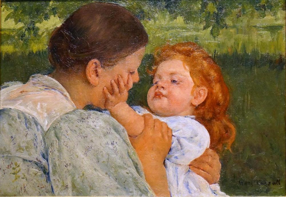 Mary Cassatt, Anne Okşama, Kanvas Tablo, Mary Cassatt, kanvas tablo, canvas print sales