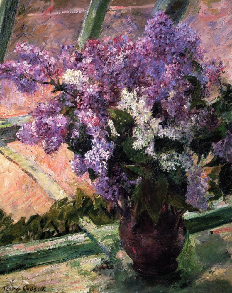 Mary Cassatt, Lilacs in a Window, Canvas, Mary Cassatt, kanvas tablo, canvas print sales