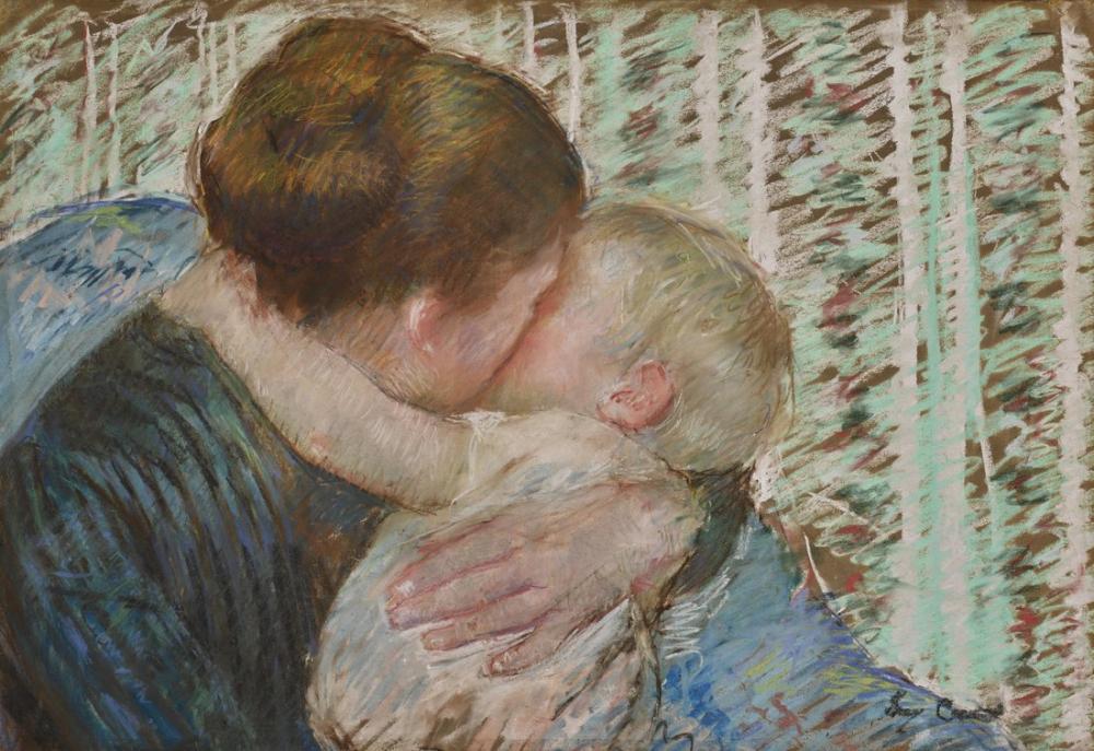 Mary Cassatt, İyi Geceler Kucaklaması, Kanvas Tablo, Mary Cassatt, kanvas tablo, canvas print sales