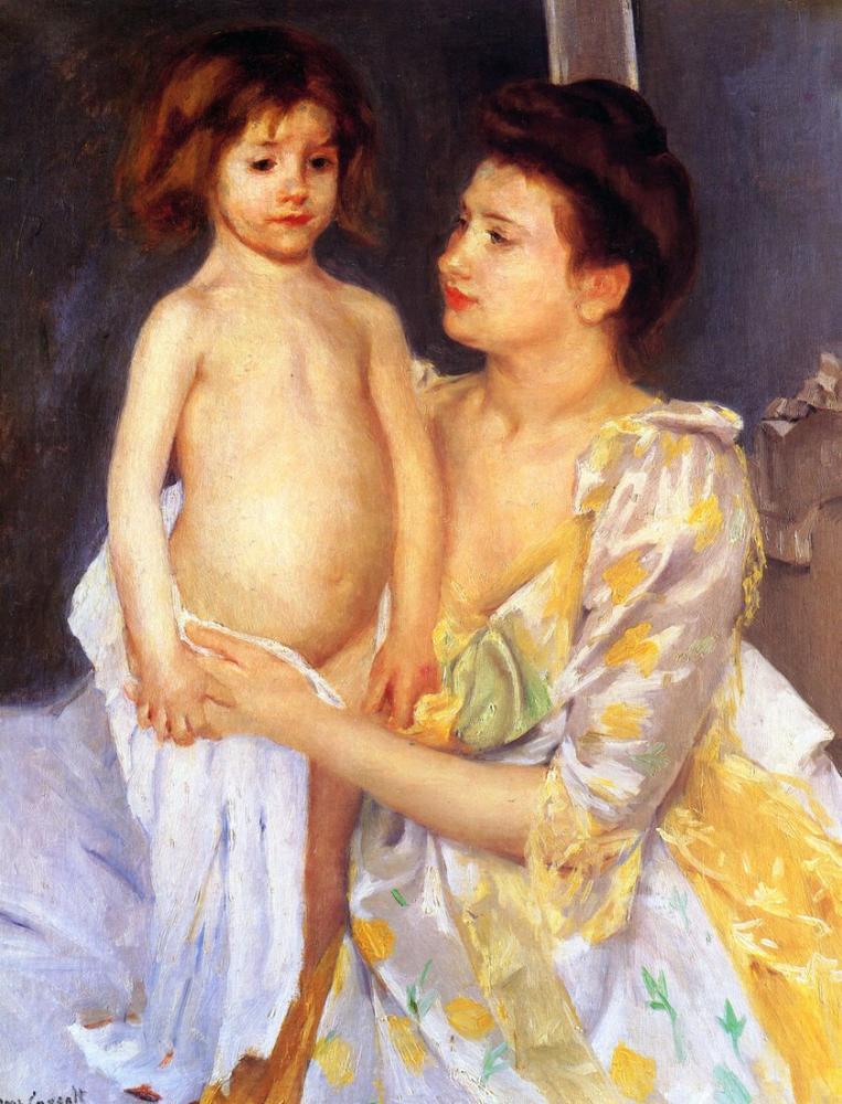 Mary Cassatt, Jules Annesi Tarafından Kurutuluyor, Kanvas Tablo, Mary Cassatt, kanvas tablo, canvas print sales