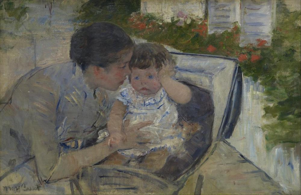 Mary Cassatt, Susan Bebeği Rahatlatıyor, Kanvas Tablo, Mary Cassatt, kanvas tablo, canvas print sales