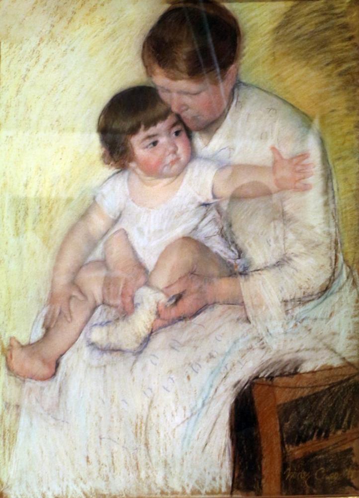Mary Cassatt, Çorap, Kanvas Tablo, Mary Cassatt, kanvas tablo, canvas print sales