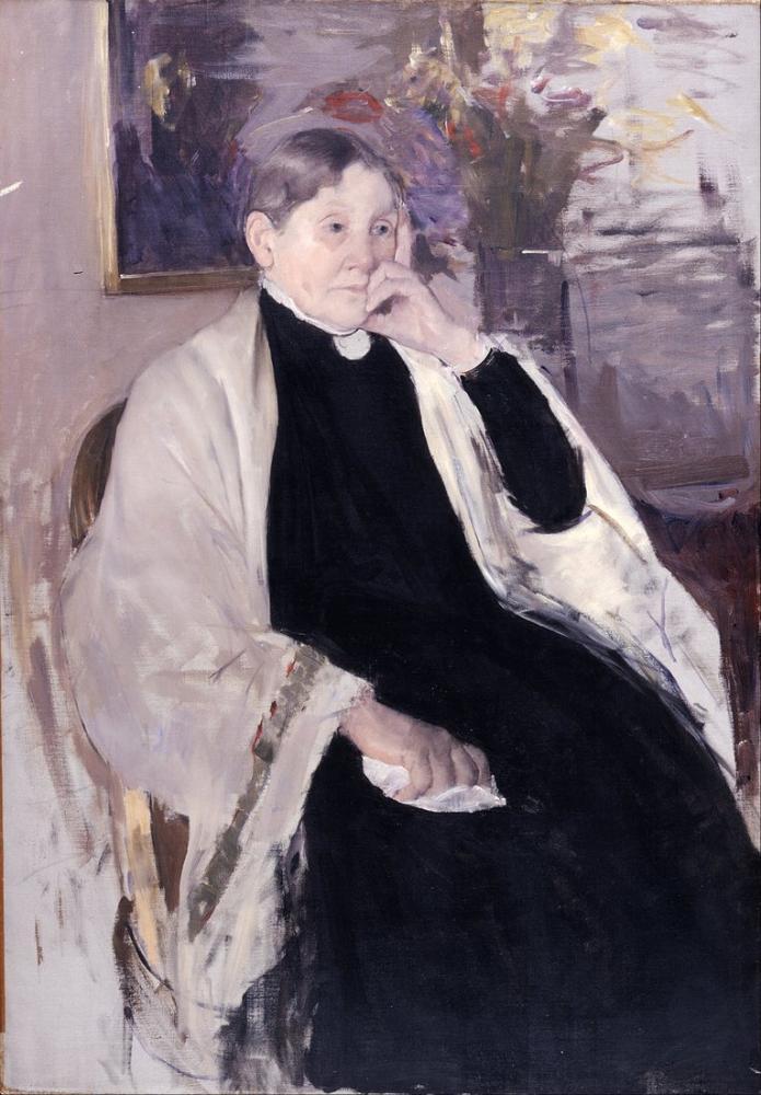 Mary Cassatt, Robert S Sanatçının Annesi, Kanvas Tablo, Mary Cassatt, kanvas tablo, canvas print sales