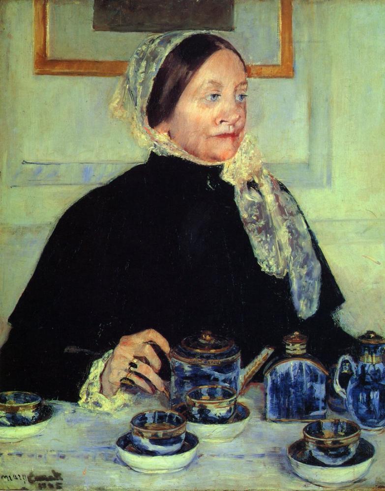 Mary Cassatt, Mary Lady at the Tea Table, Canvas, Mary Cassatt, kanvas tablo, canvas print sales