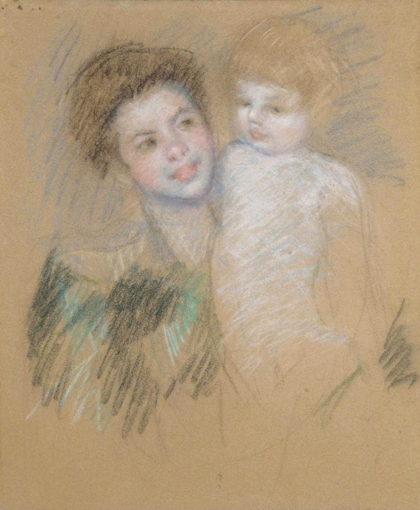 Mary Cassatt, Anne ve Çocuk, Kanvas Tablo, Mary Cassatt, kanvas tablo, canvas print sales