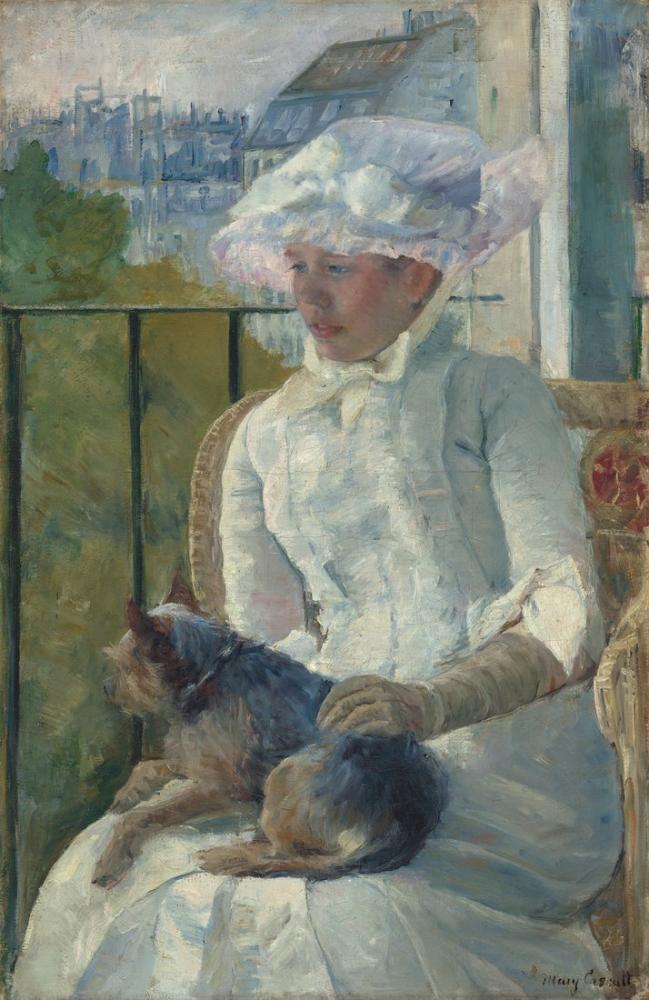 Mary Cassatt, Bir Pencerede Genç Kız, Kanvas Tablo, Mary Cassatt, kanvas tablo, canvas print sales