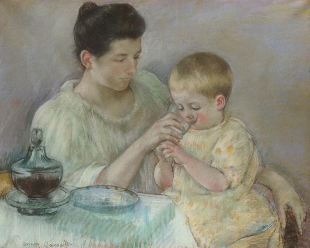 Mary Cassatt, Anne Çocuğu Besleme, Kanvas Tablo, Mary Cassatt, kanvas tablo, canvas print sales
