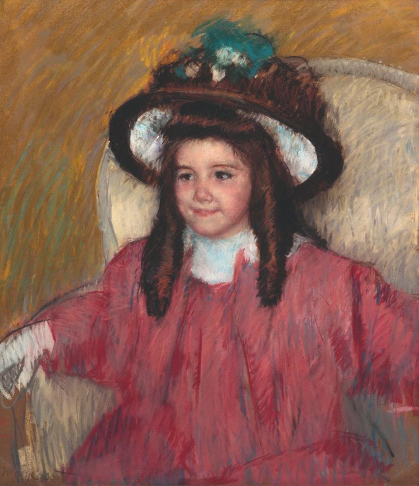 Mary Cassatt, Anne Marie Durand Ruel in Portresi, Kanvas Tablo, Mary Cassatt, kanvas tablo, canvas print sales