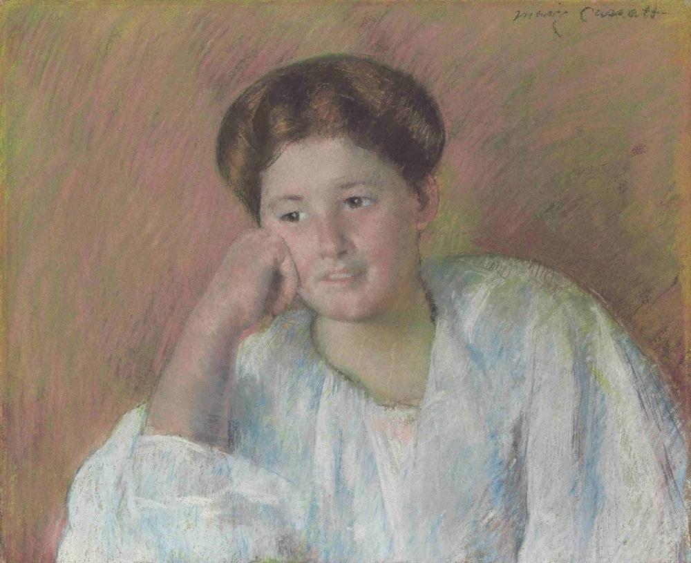 Mary Cassatt, Portrait of Louisine Elder, Canvas, Mary Cassatt, kanvas tablo, canvas print sales