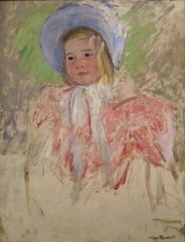 Mary Cassatt, Simone Mavi Bir Başlık İçinde, Kanvas Tablo, Mary Cassatt, kanvas tablo, canvas print sales