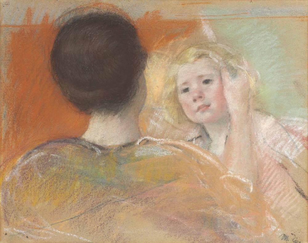 Mary Cassatt, Sara nın Saçını Tararken Anne, Kanvas Tablo, Mary Cassatt, kanvas tablo, canvas print sales