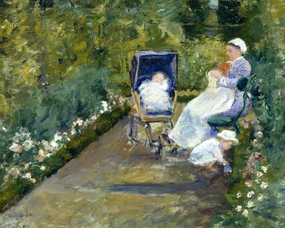 Mary Cassatt, Children in a Garden The Nurse, Canvas, Mary Cassatt, kanvas tablo, canvas print sales