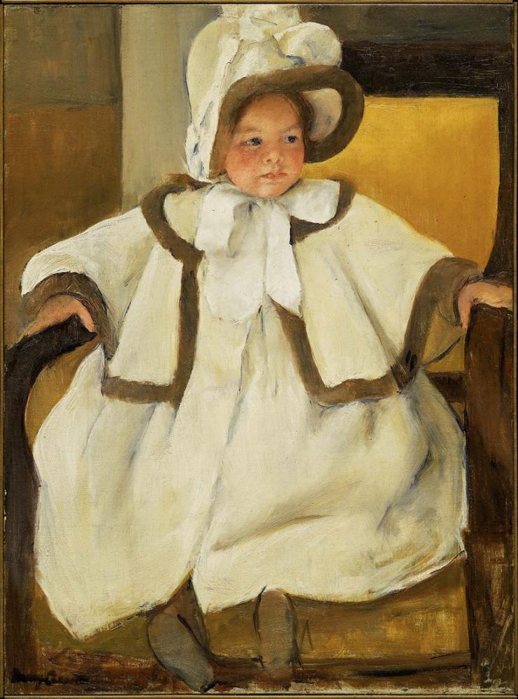 Mary Cassatt, Mary Stevenson Ellen Mary in a White Coat, Canvas, Mary Cassatt, kanvas tablo, canvas print sales