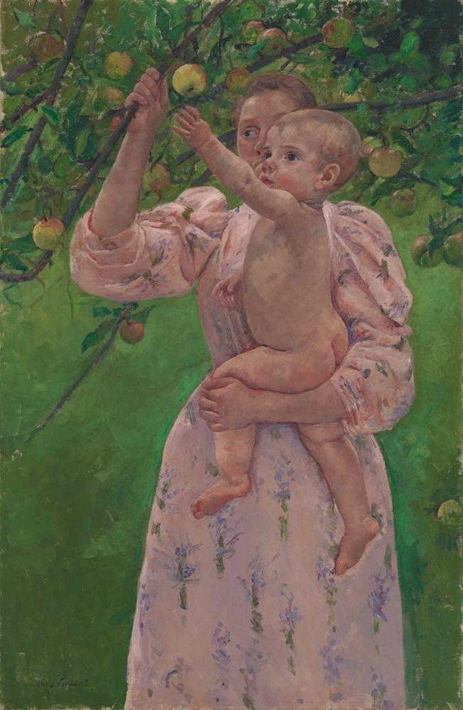 Mary Cassatt, Meyve Toplama, Kanvas Tablo, Mary Cassatt, kanvas tablo, canvas print sales