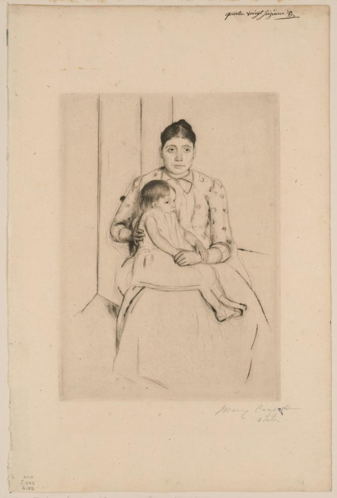 Mary Cassatt, Yaslanmak, Kanvas Tablo, Mary Cassatt, kanvas tablo, canvas print sales