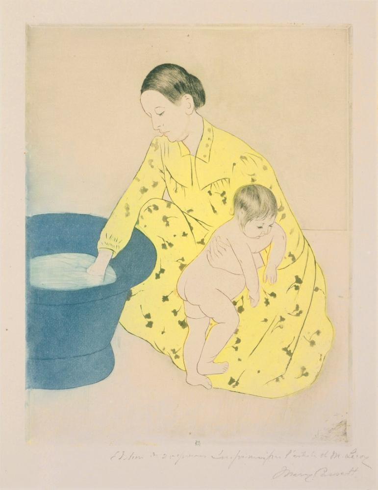 Mary Cassatt, Banyo, Kanvas Tablo, Mary Cassatt, kanvas tablo, canvas print sales