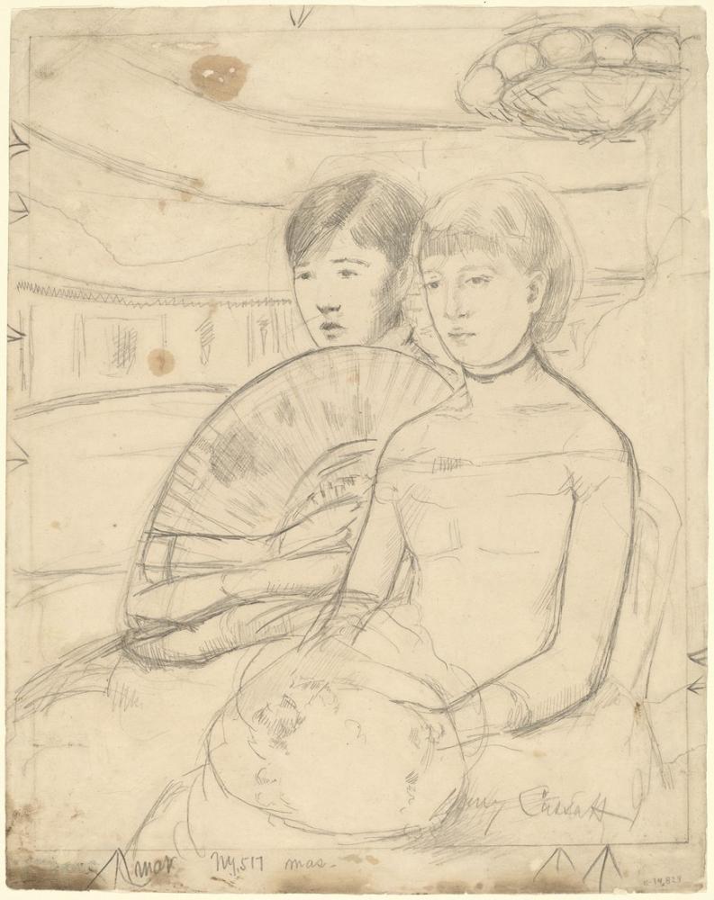 Mary Cassatt, The Loge Recto, Canvas, Mary Cassatt, kanvas tablo, canvas print sales