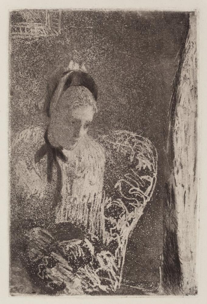 Mary Cassatt, Waiting, Canvas, Mary Cassatt, kanvas tablo, canvas print sales