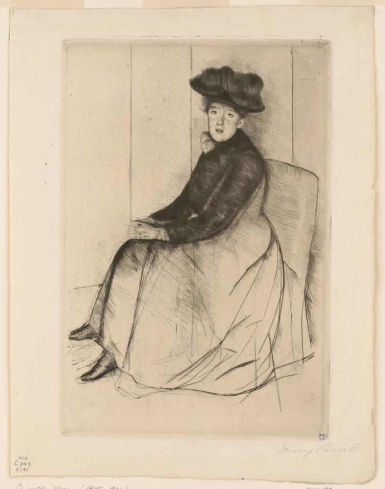 Mary Cassatt, Yansıma, Kanvas Tablo, Mary Cassatt, kanvas tablo, canvas print sales