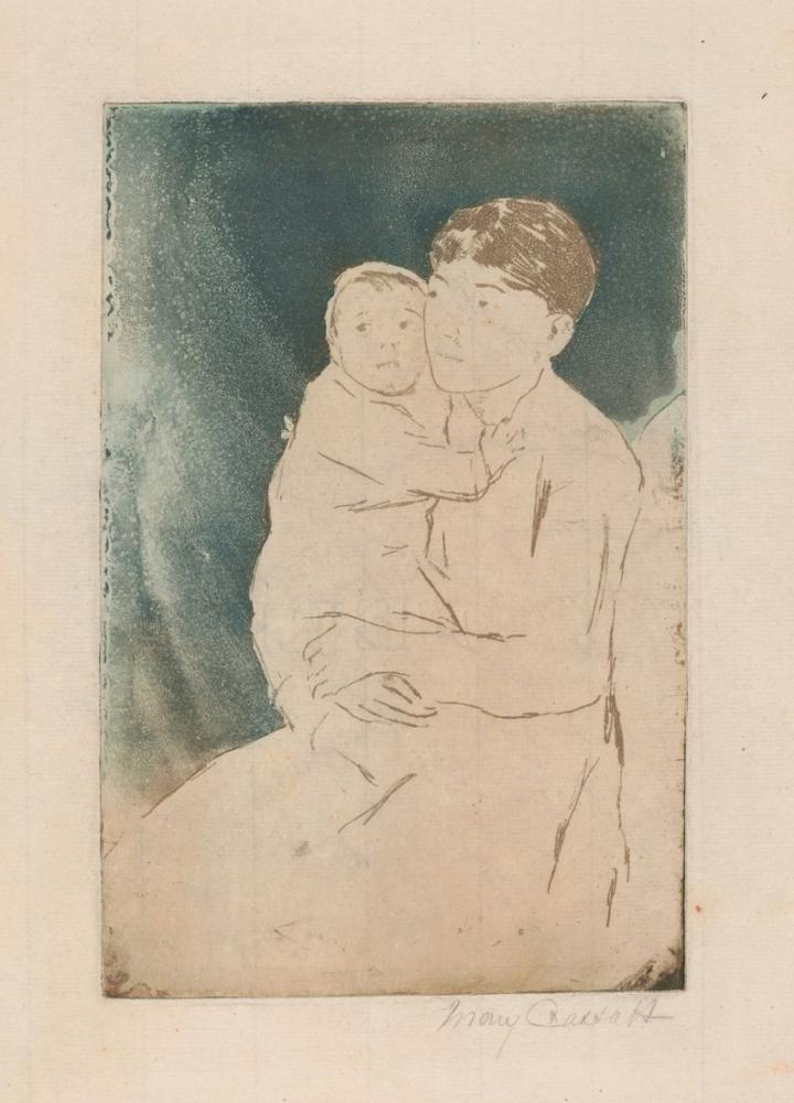 Mary Cassatt, Hemşire ve Bebek Bill, Kanvas Tablo, Mary Cassatt, kanvas tablo, canvas print sales