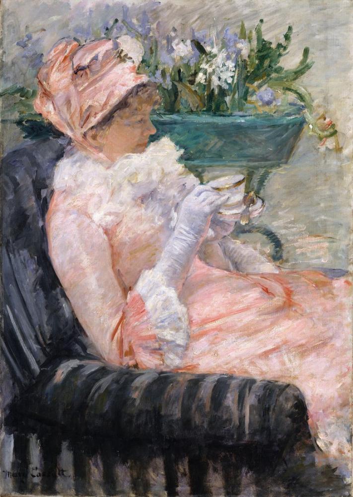 Mary Cassatt, The Cup of Tea, Canvas, Mary Cassatt, kanvas tablo, canvas print sales