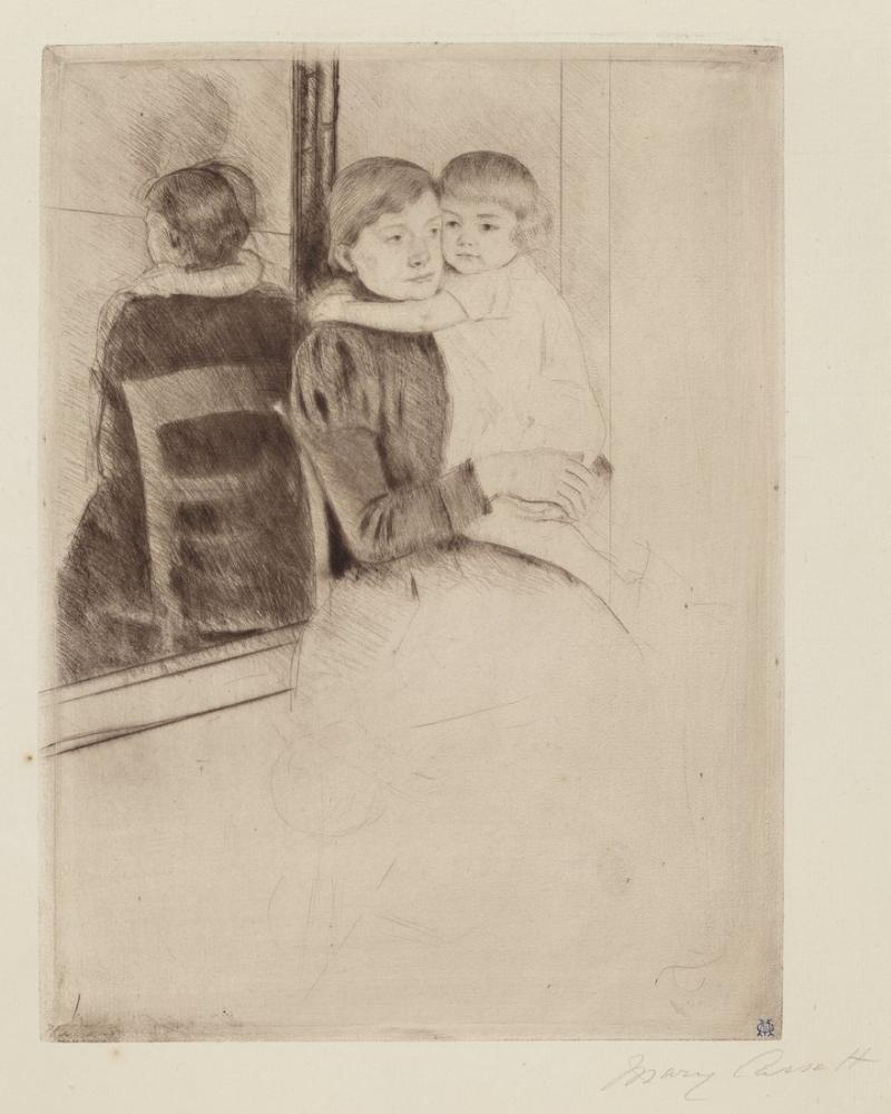 Mary Cassatt, The Mirror, Canvas, Mary Cassatt, kanvas tablo, canvas print sales