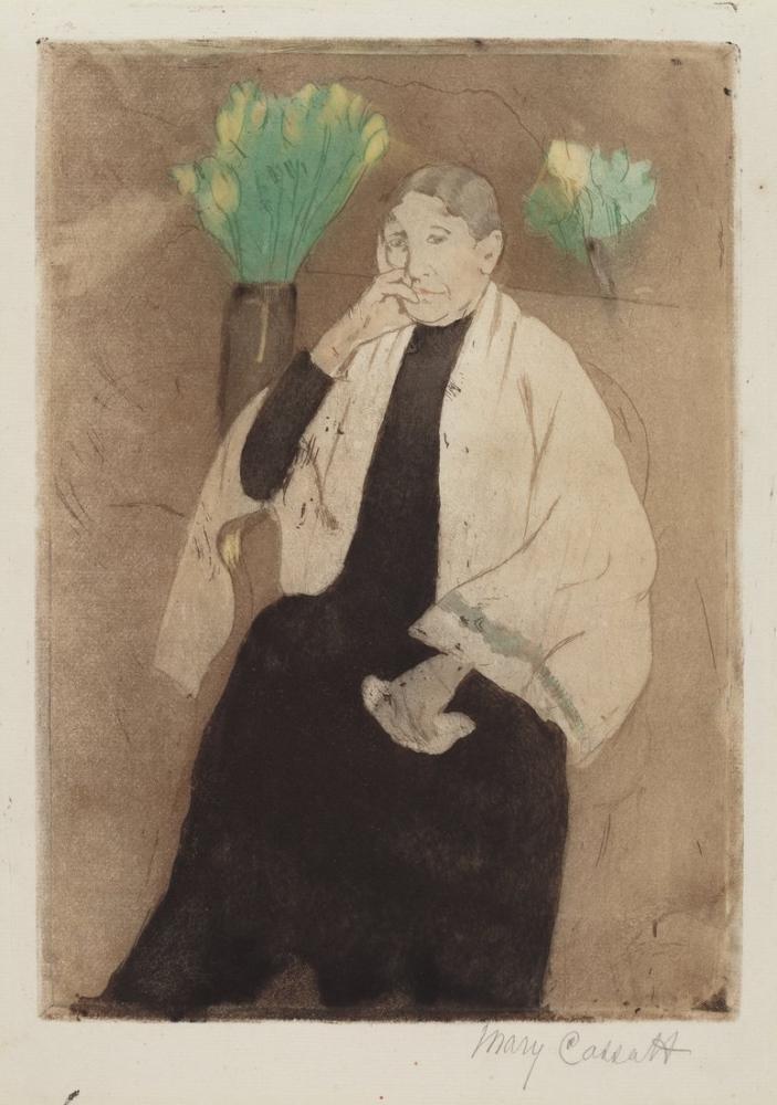 Mary Cassatt, A Portrait of the Artist s Mother, Canvas, Mary Cassatt, kanvas tablo, canvas print sales
