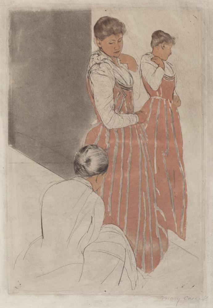 Mary Cassatt, Prova II, Kanvas Tablo, Mary Cassatt, kanvas tablo, canvas print sales
