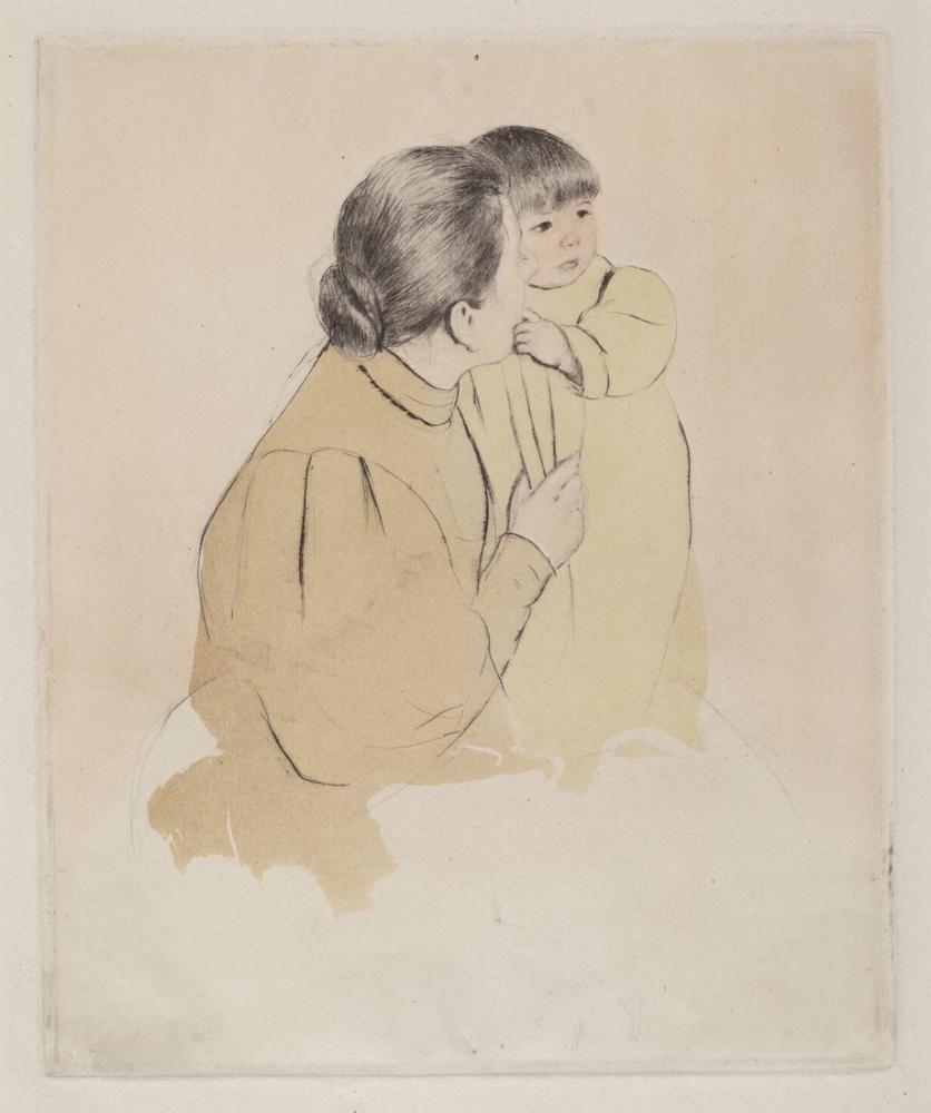 Mary Cassatt, Köylü Anne ve Çocuk II, Kanvas Tablo, Mary Cassatt, kanvas tablo, canvas print sales