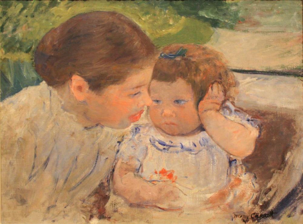 Mary Cassatt, Susan Comforting the Baby, Canvas, Mary Cassatt, kanvas tablo, canvas print sales
