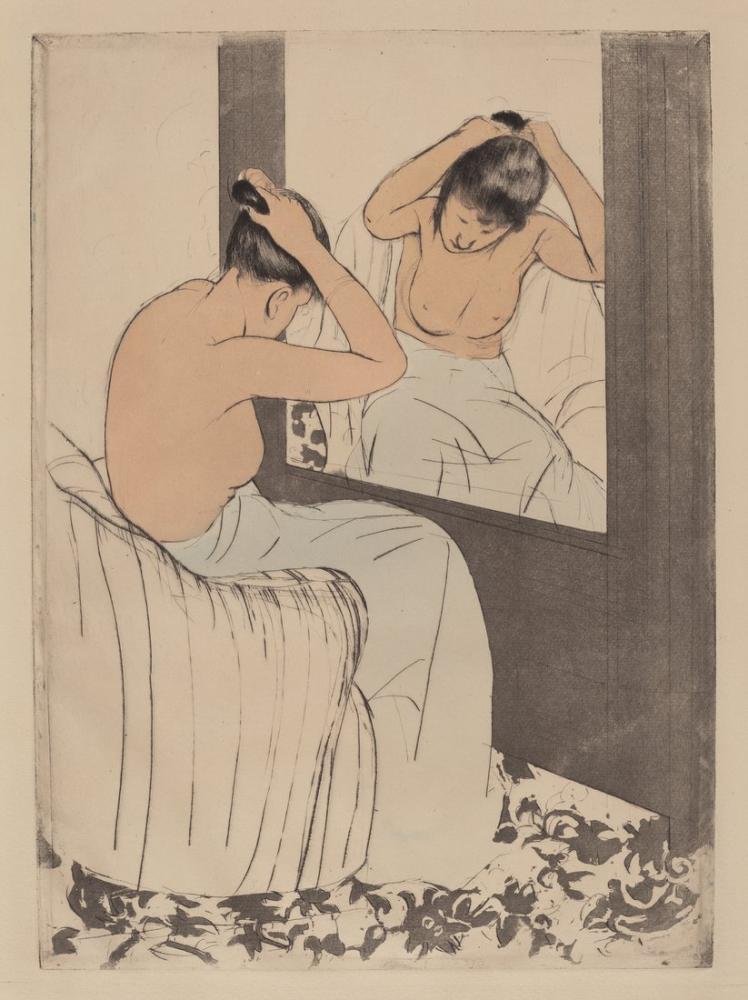 Mary Cassatt, The Coiffure IV, Canvas, Mary Cassatt, kanvas tablo, canvas print sales