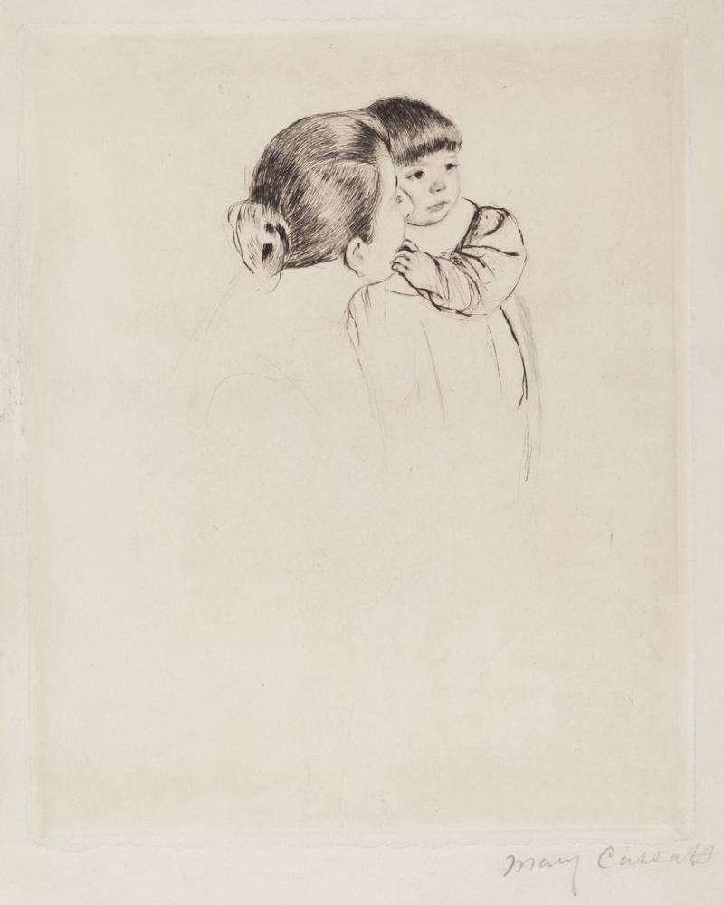 Mary Cassatt, Köylü Anne ve Çocuk, Kanvas Tablo, Mary Cassatt, kanvas tablo, canvas print sales