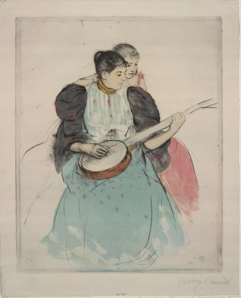 Mary Cassatt, The Banjo Lesson, Canvas, Mary Cassatt, kanvas tablo, canvas print sales