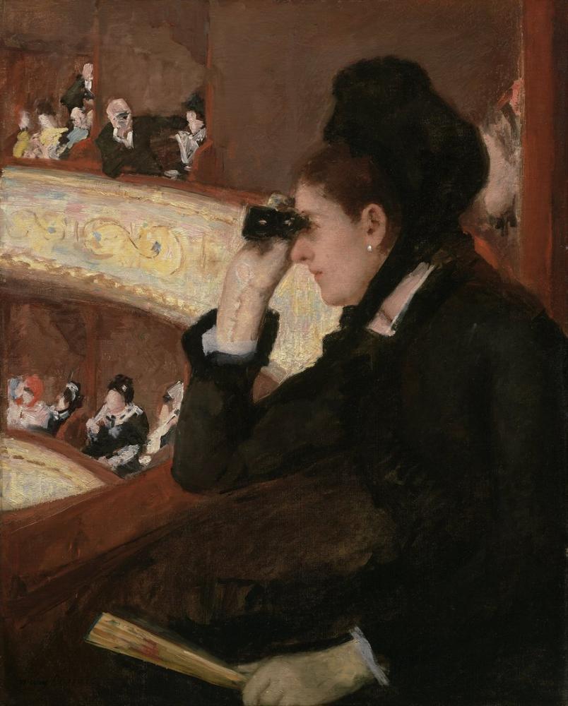 Mary Cassatt, Loca daki Mary Stevenson, Kanvas Tablo, Mary Cassatt, kanvas tablo, canvas print sales